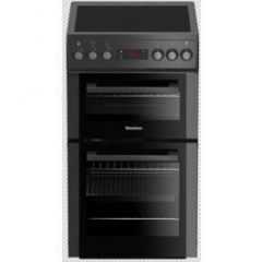 Blomberg HKS900N 50Cm Double Oven Electric Cooker With Ceramic Hob - Anthracite