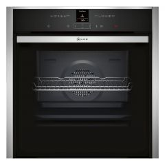 Neff B57CR23N0B Pyrolytic Slide + Hide Built In Electric Single Oven - Stainless Steel