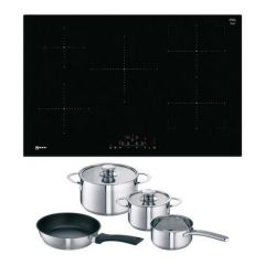 Neff T48FD23X2KIT Frameless Induction Hob with CombiZone - Black